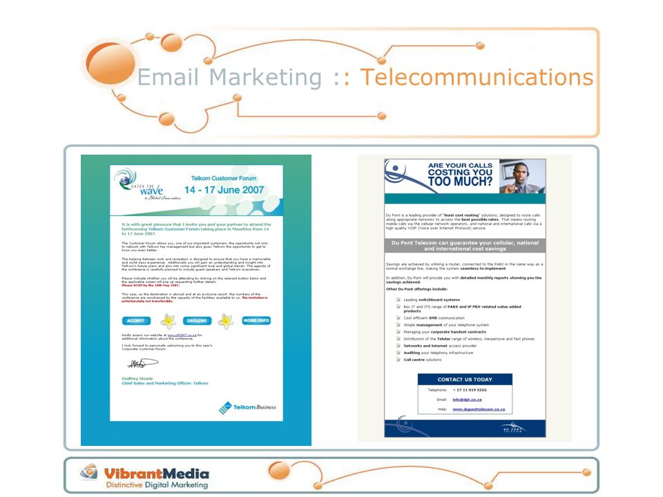 Email Marketing :: Telecommunications