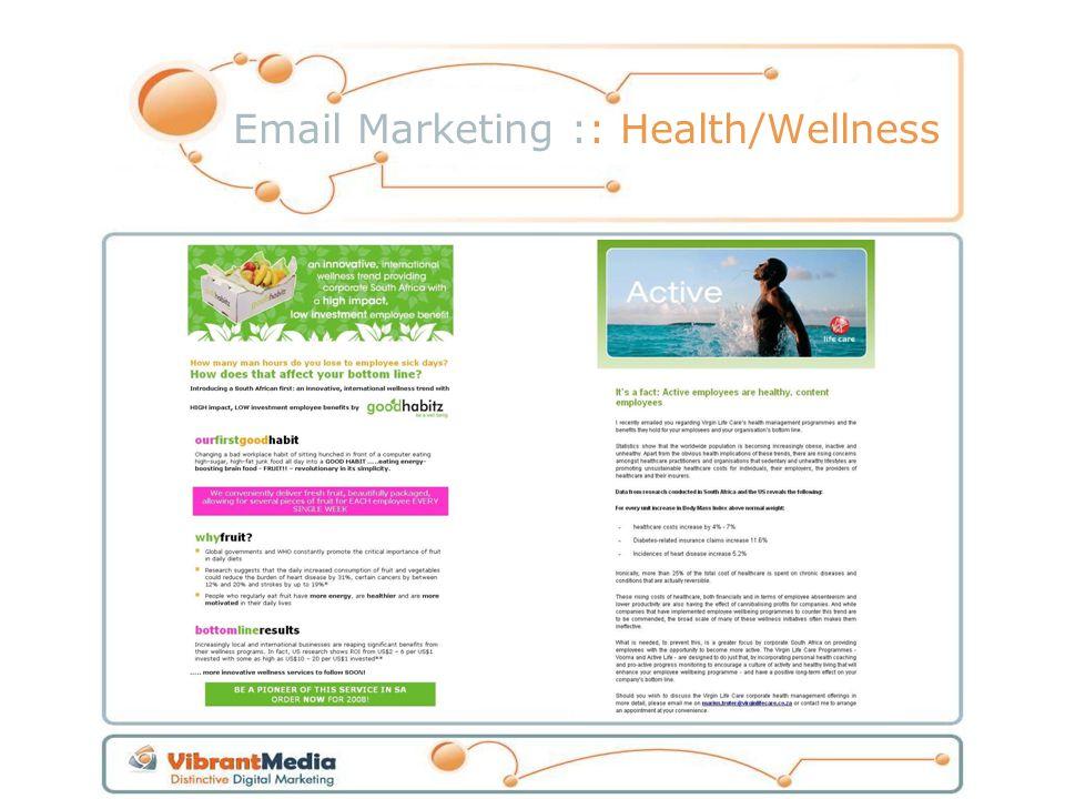Email Marketing :: Health/Wellness