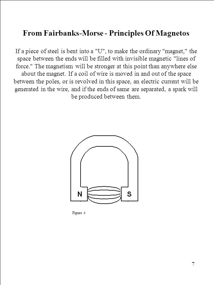 7 From Fairbanks-Morse - Principles Of Magnetos If a piece of steel is bent into a