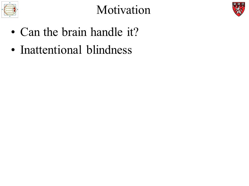 Motivation Can the brain handle it Inattentional blindness