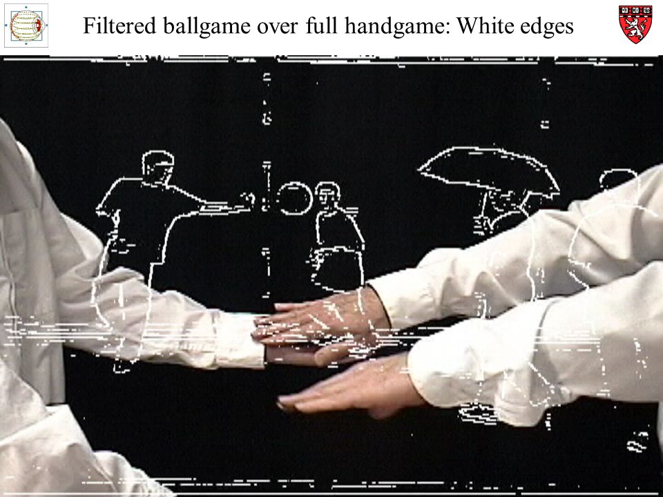 Filtered ballgame over full handgame: White edges