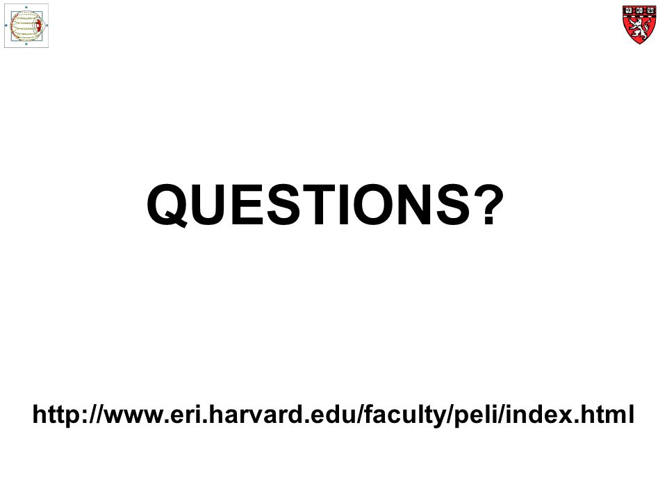 QUESTIONS http://www.eri.harvard.edu/faculty/peli/index.html