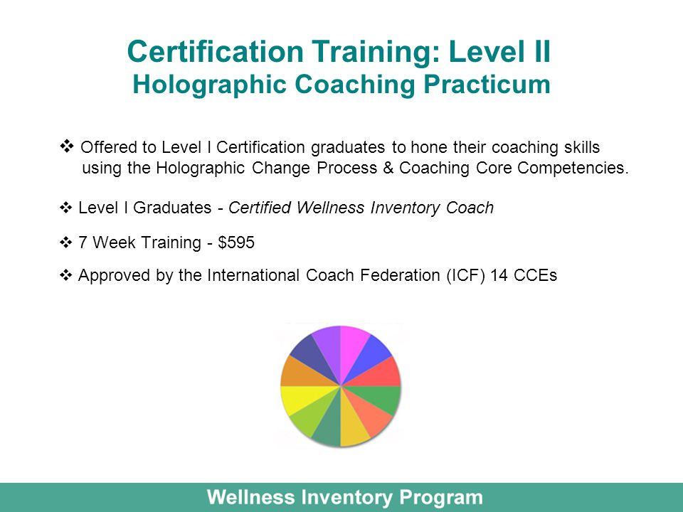 Holographic Coaching Practicum Offered to Level I Certification graduates to hone their coaching skills using the Holographic Change Process & Coachin