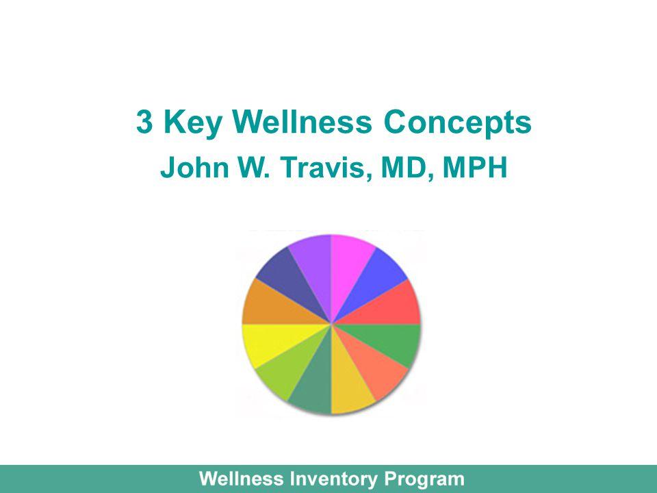 3 Key Wellness Concepts John W. Travis, MD, MPH