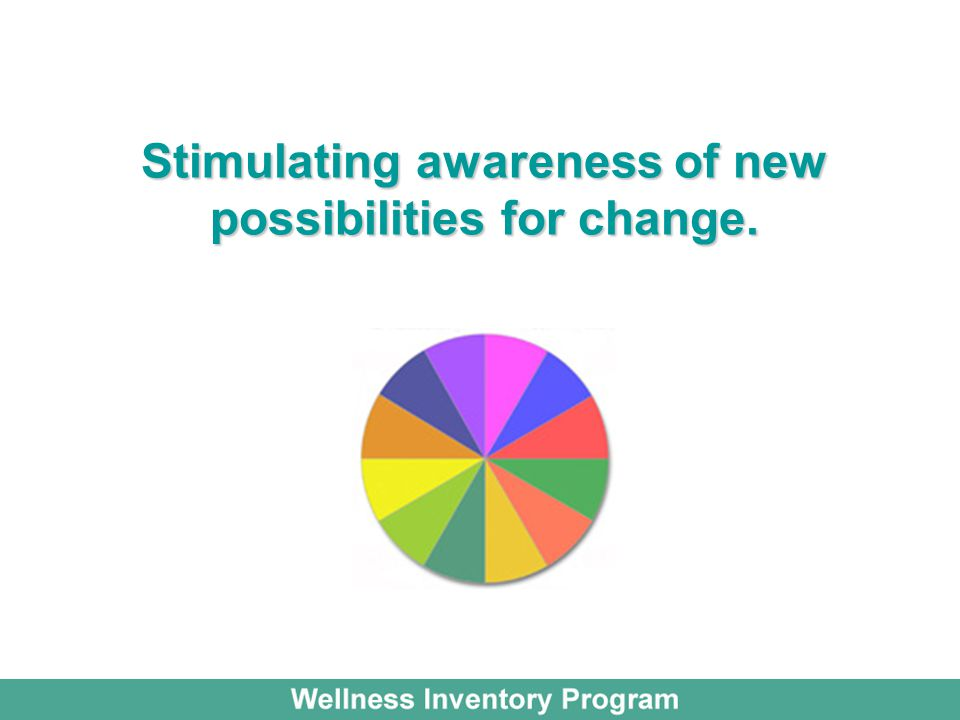 Stimulating awareness of new possibilities for change.