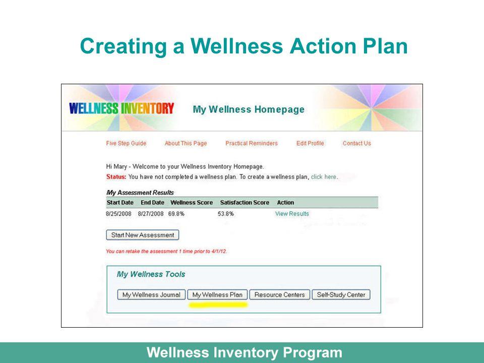 Creating a Wellness Action Plan