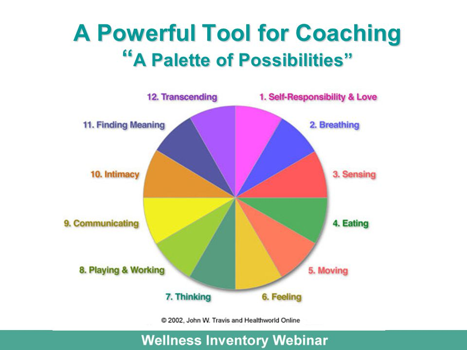 A Powerful Tool for Coaching A Palette of Possibilities