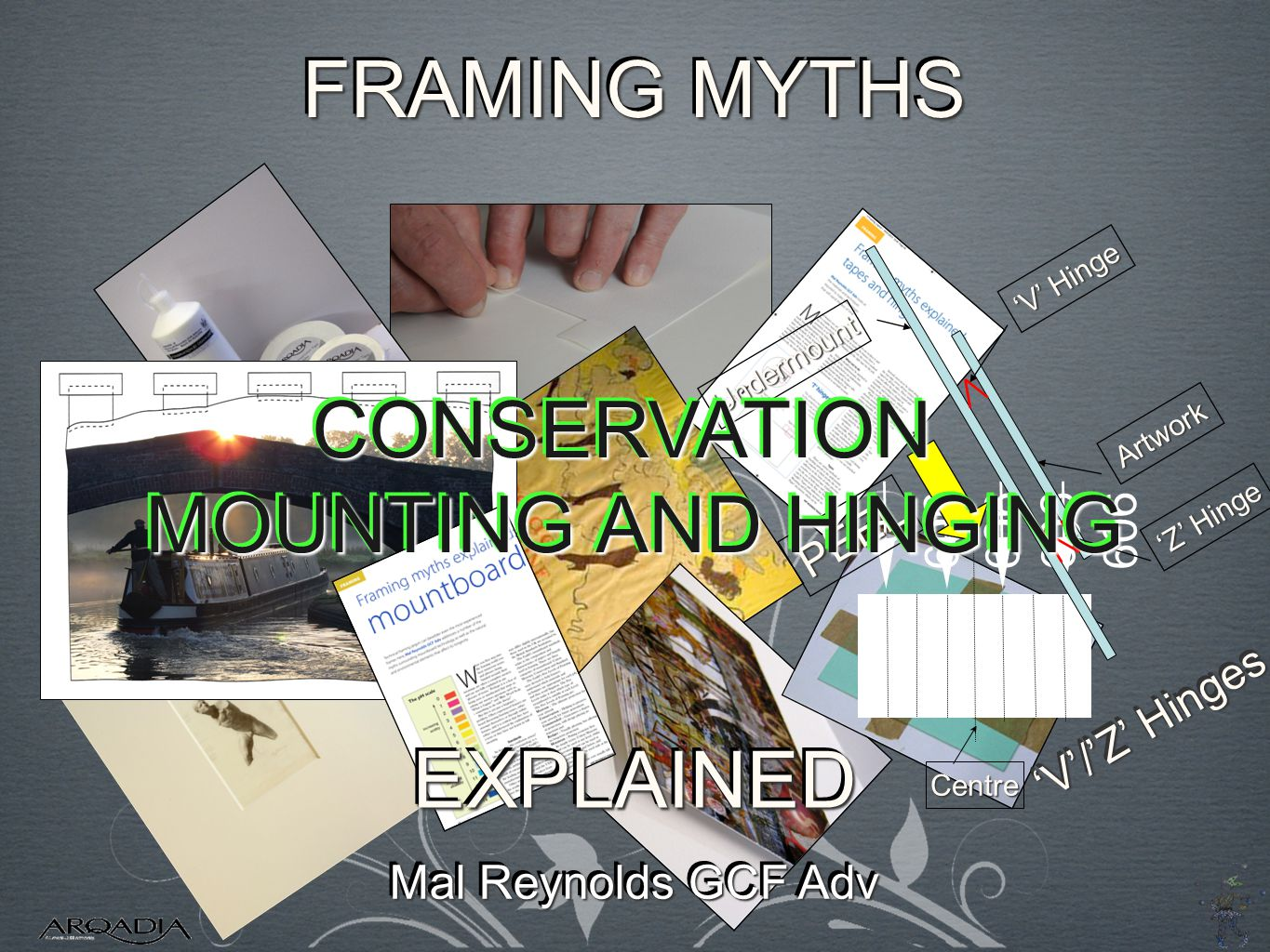 909 0 Centre Undermount PEEL V Hinge Artwork Z Hinge V/Z Hinges CONSERVATION MOUNTING AND HINGING CONSERVATION FRAMING MYTHS Mal Reynolds GCF Adv EXPLAINEDEXPLAINED