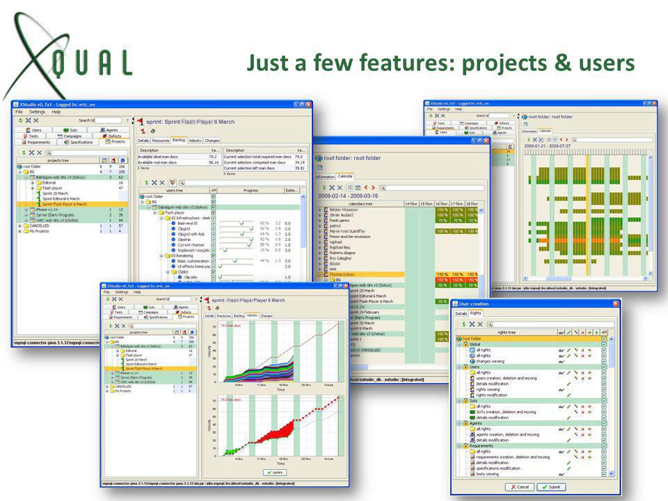 Just a few features: projects & users
