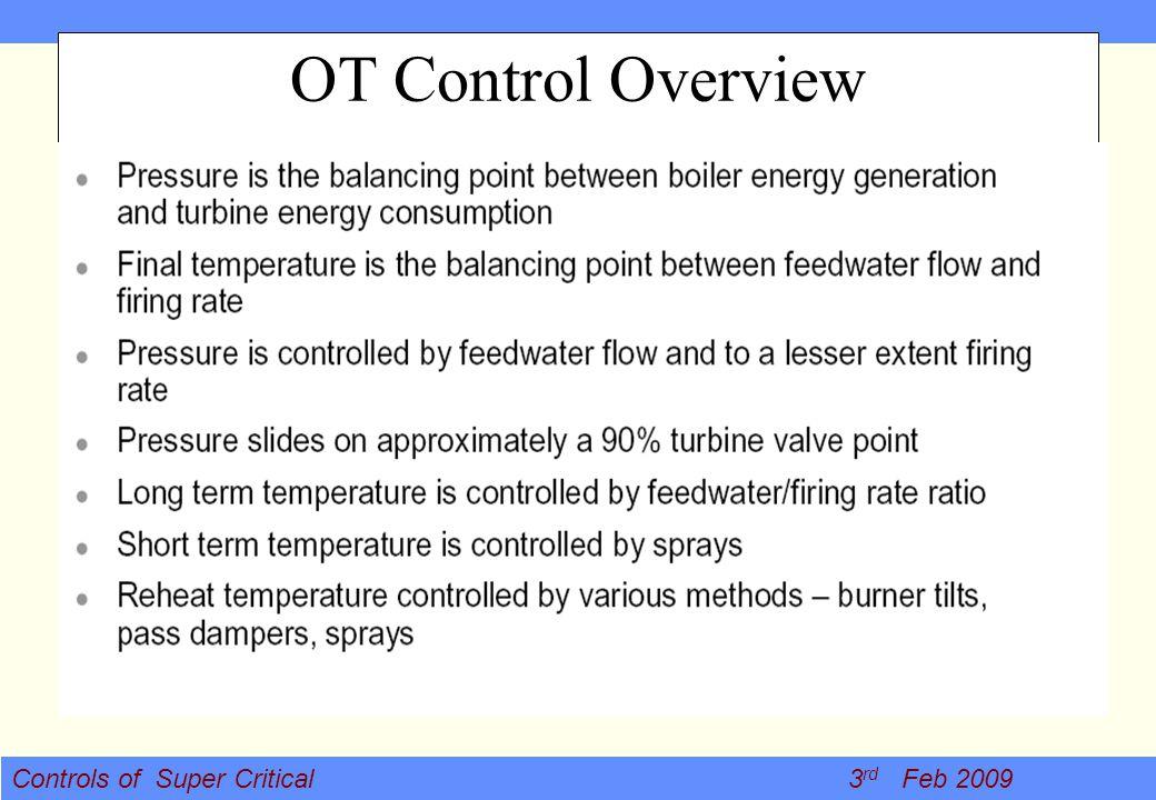 Controls of Super Critical 3 rd Feb 2009 OT Control Overview
