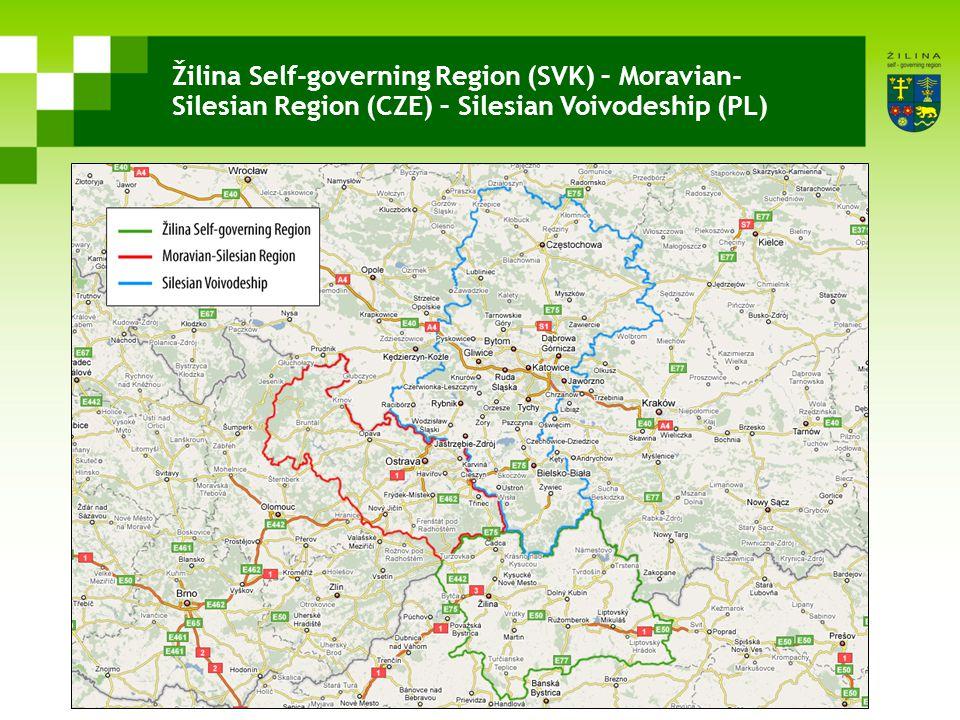 Žilina Self-governing Region (SVK) – Moravian- Silesian Region (CZE) – Silesian Voivodeship (PL)
