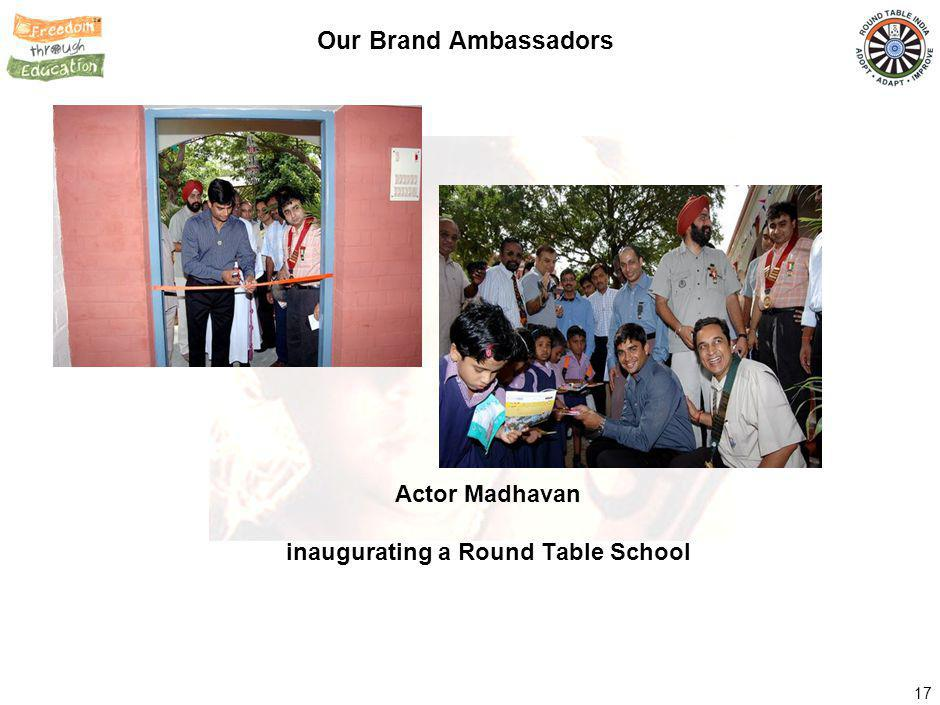 17 Our Brand Ambassadors Actor Madhavan inaugurating a Round Table School