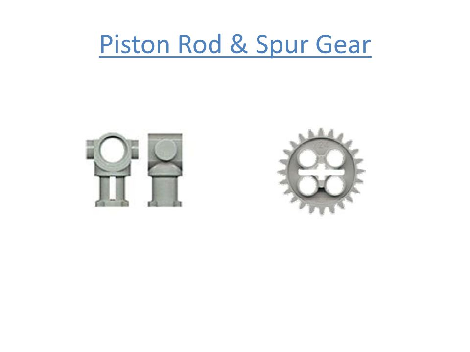 Piston Rod & Spur Gear