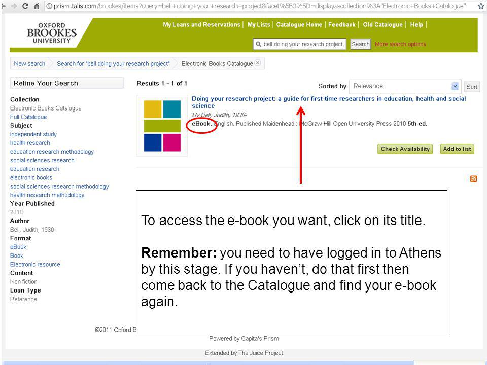 On the next screen, click on the On and off campus access link.