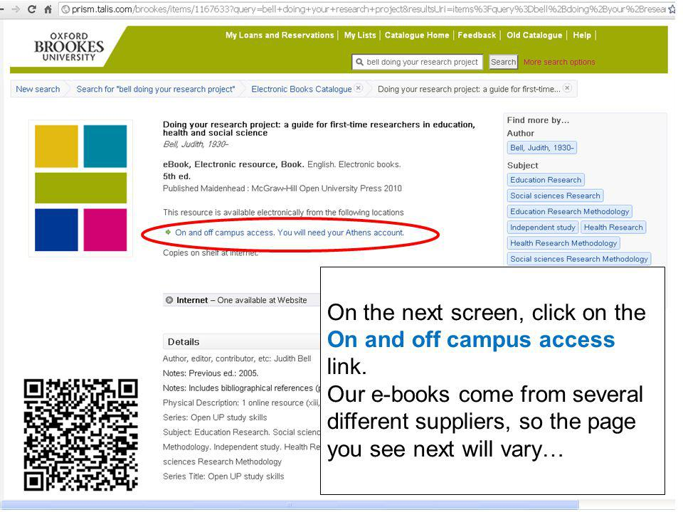 On the next screen, click on Access details.