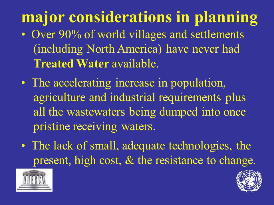 Parallel the Village Potable Water Programme with Aquifer Replenishment by Capturing Stormwater, disinfecting it to Drinking Water Quality and sending it back down to the aquifer or other holding systems through proprietary technologies.