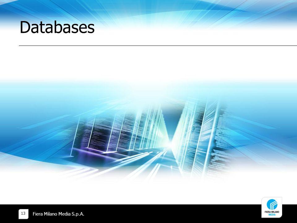 Databases Fiera Milano Media S.p.A. 13