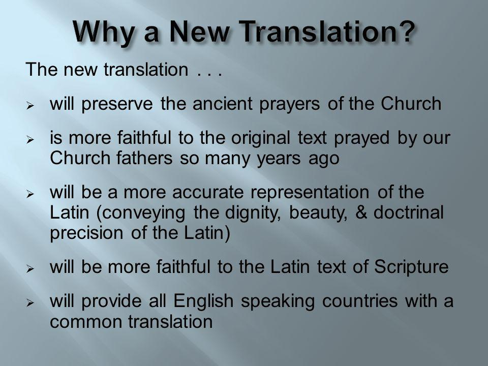 The new translation...