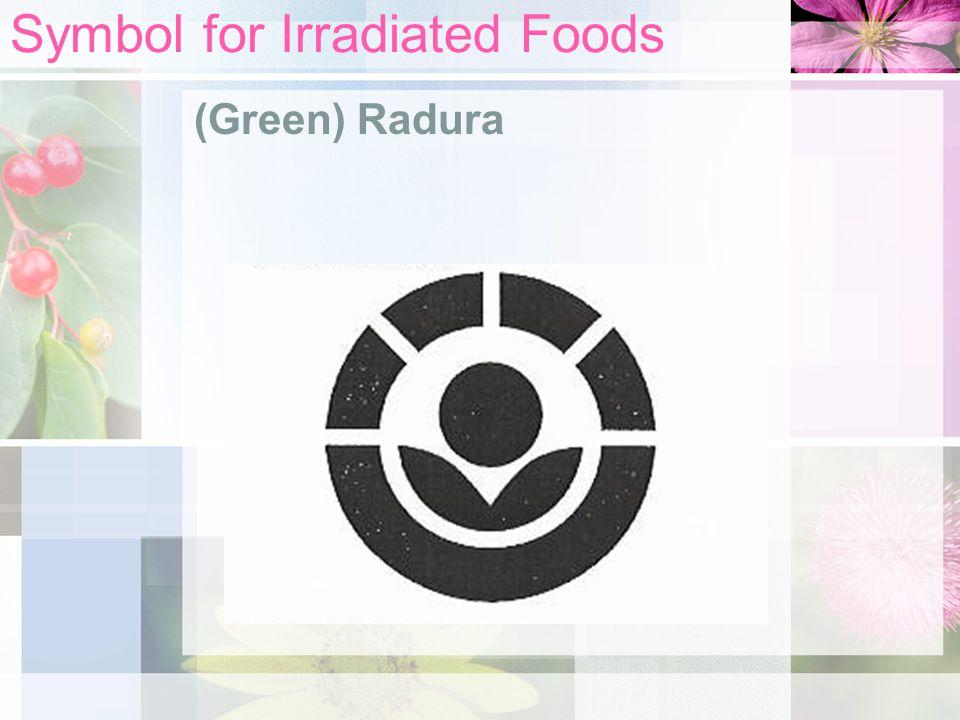 Symbol for Irradiated Foods (Green) Radura
