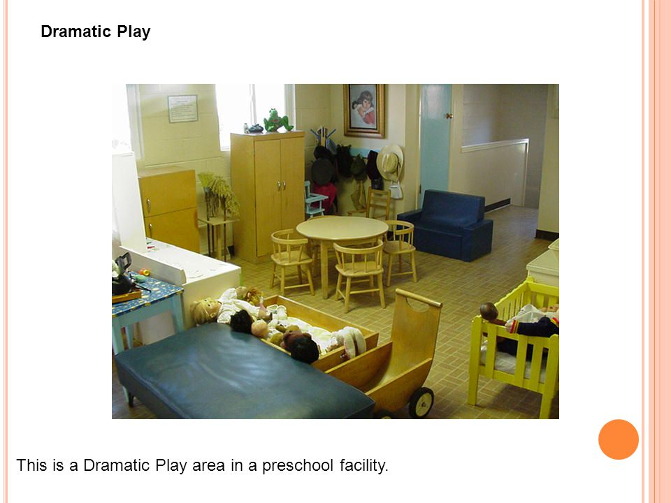 This is a Dramatic Play area in a preschool facility. Dramatic Play