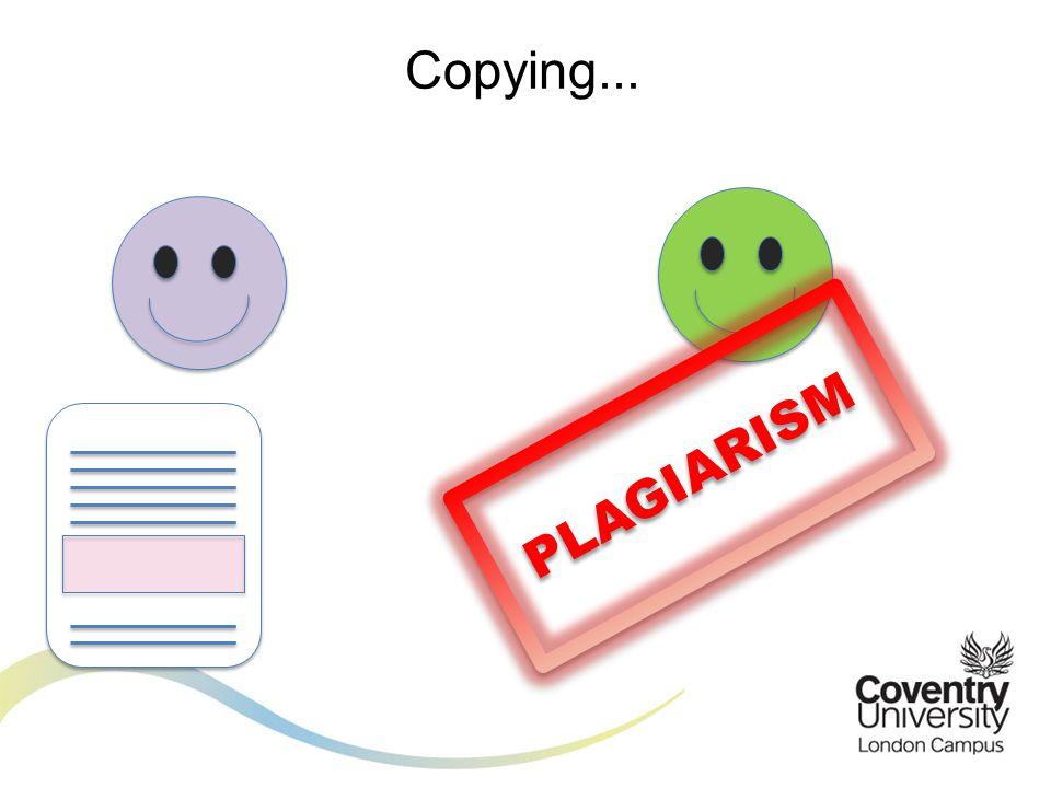 Copying... PLAGIARISM