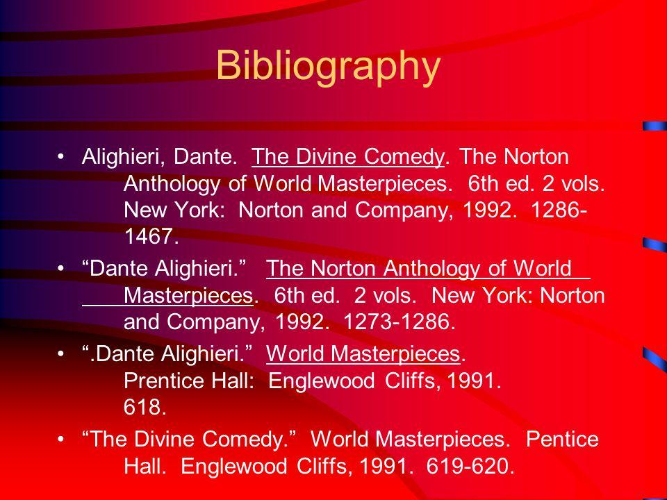 Bibliography Alighieri, Dante. The Divine Comedy.