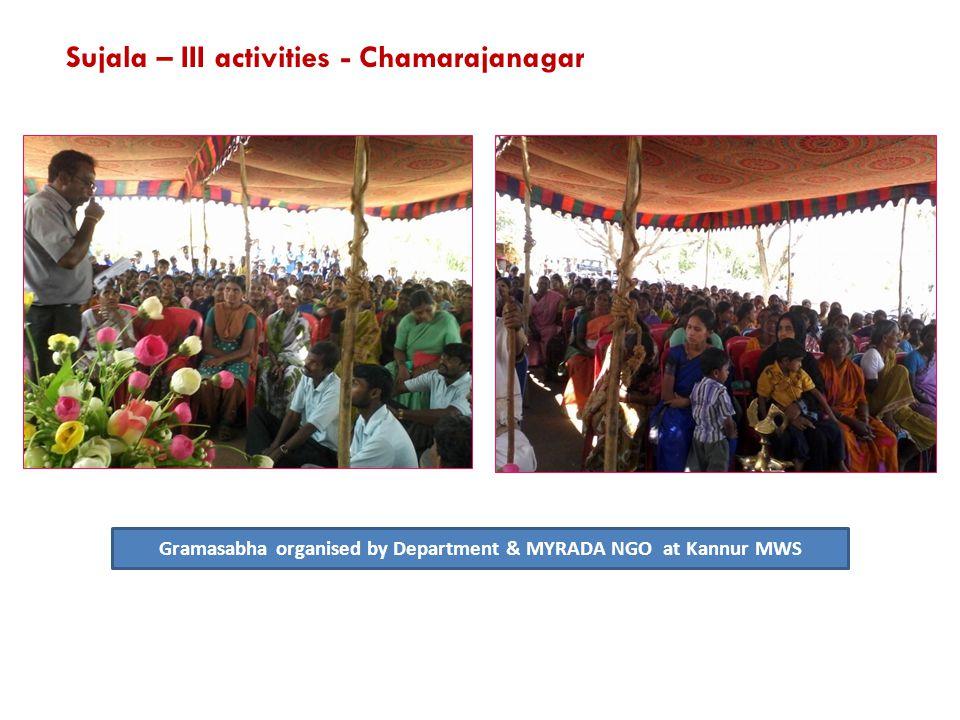 Gramasabha organised by Department & MYRADA NGO at Kannur MWS Sujala – III activities - Chamarajanagar