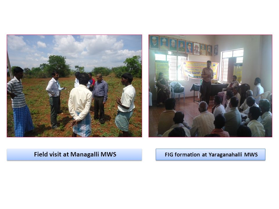 FIG formation at Yaraganahalli MWS Field visit at Managalli MWS