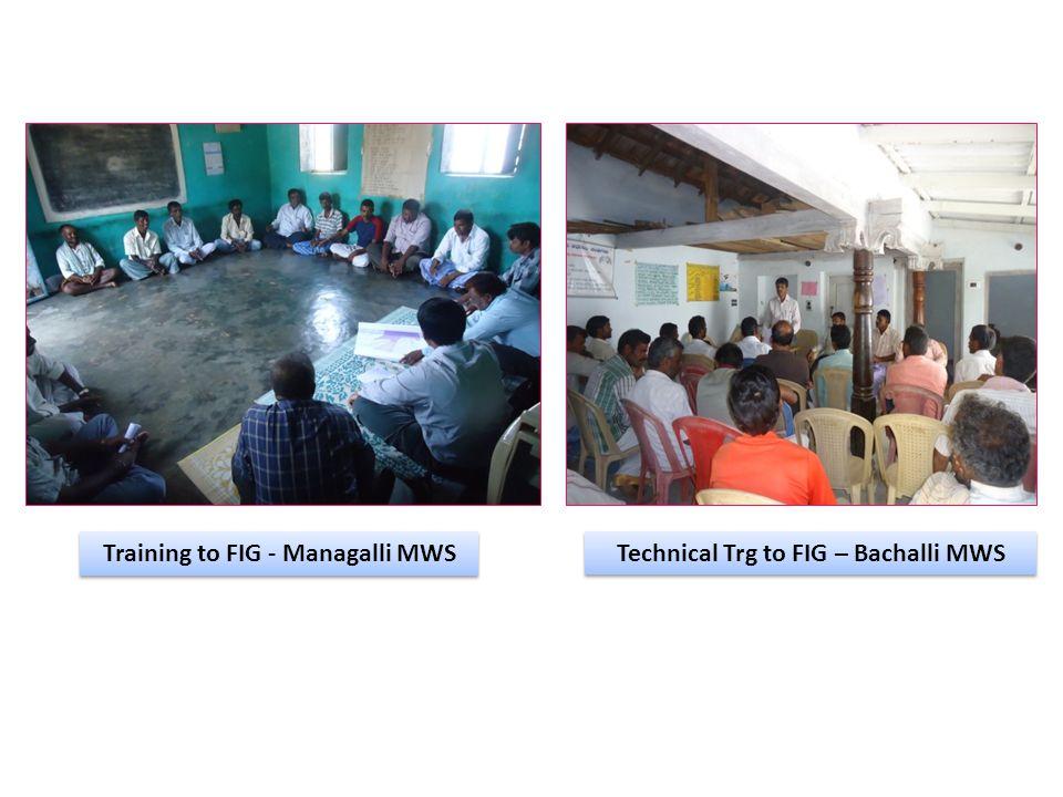 Training to FIG - Managalli MWS Technical Trg to FIG – Bachalli MWS