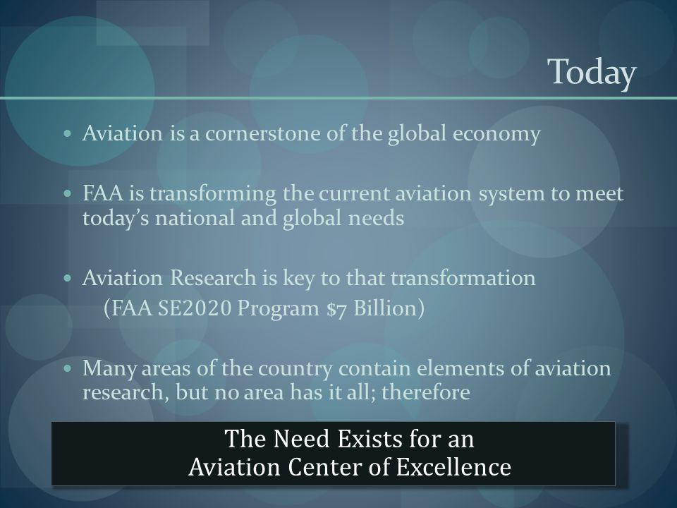 Today Aviation is a cornerstone of the global economy FAA is transforming the current aviation system to meet todays national and global needs Aviatio