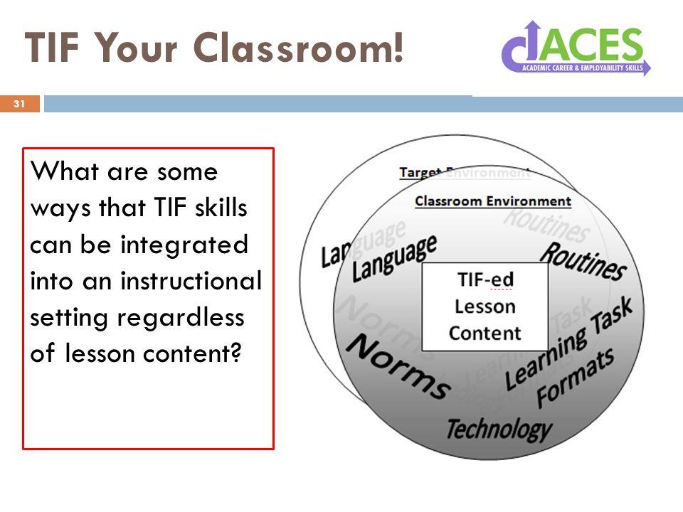 TIF Your Classroom.
