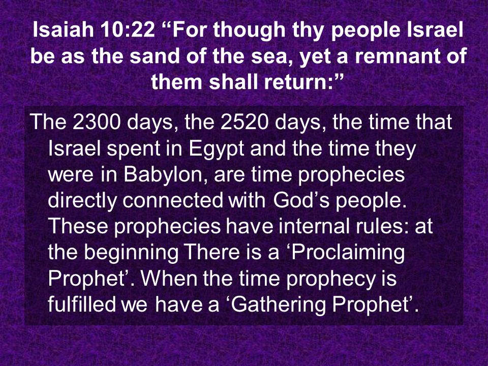 Her ministry, because she is a Proclaiming Prophet, a Gathering Prophet, is life or death, and her ministry, the Spirit of Prophecy is the first test for Seventh-day Adventists at the end of the world.