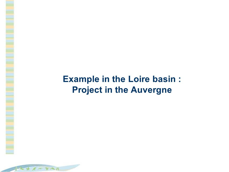 Example in the Loire basin : Project in the Auvergne