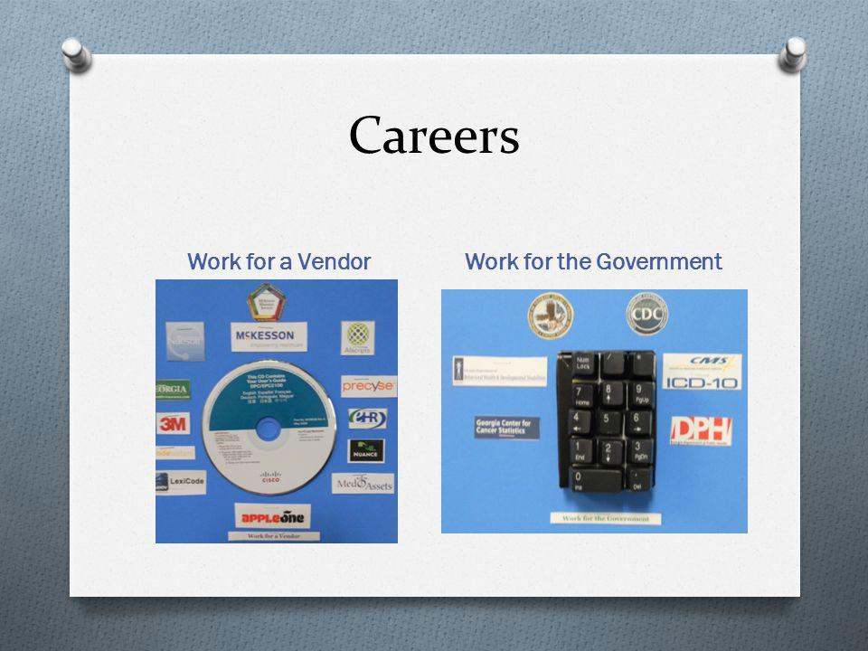 Careers Work for a Vendor Work for the Government
