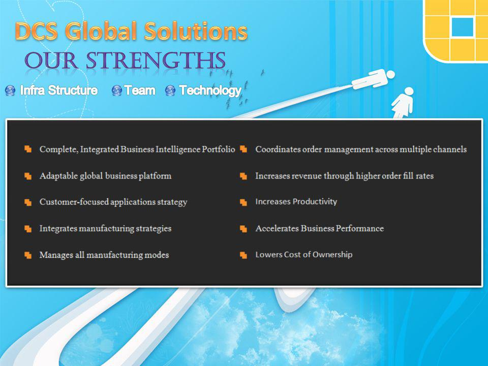 DCS Global Solutions has over a decade gathered reputation through consistent & Committed endeavor in providing innovative client specific software solutions.