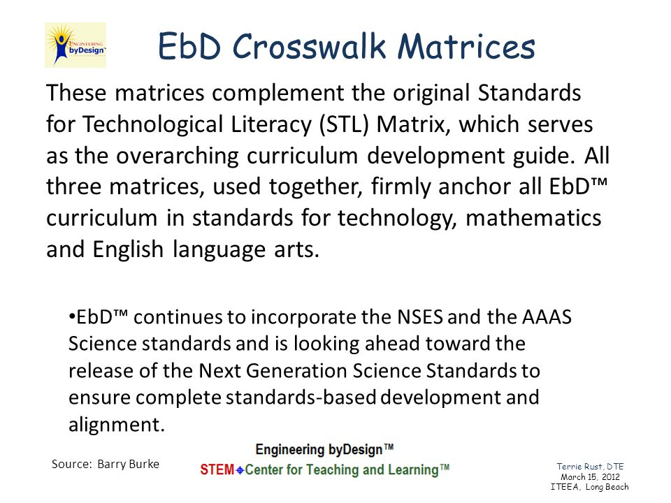 EbD continues to incorporate the NSES and the AAAS Science standards and is looking ahead toward the release of the Next Generation Science Standards