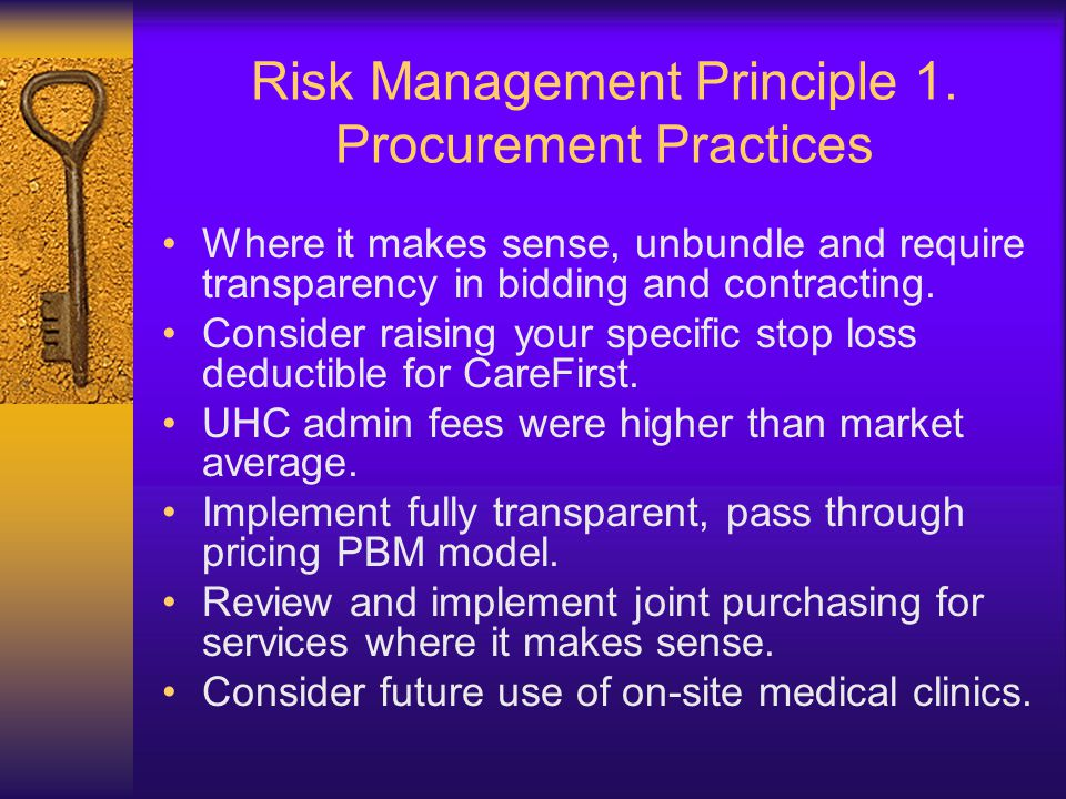 Risk Management Principle 1.