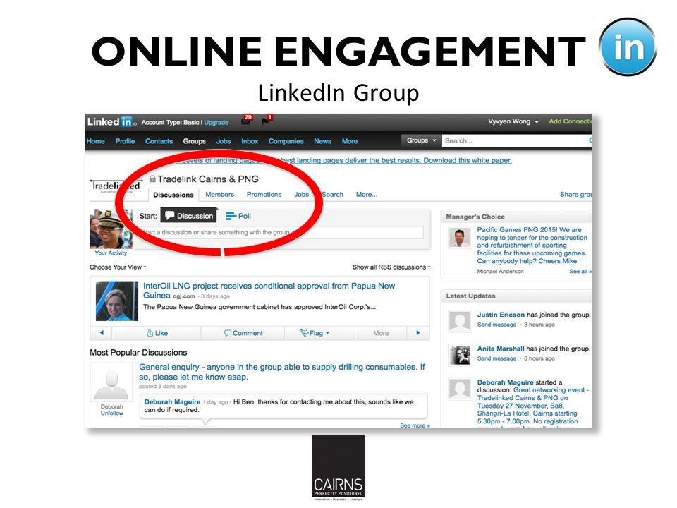 LinkedIn Group ONLINE ENGAGEMENT 19