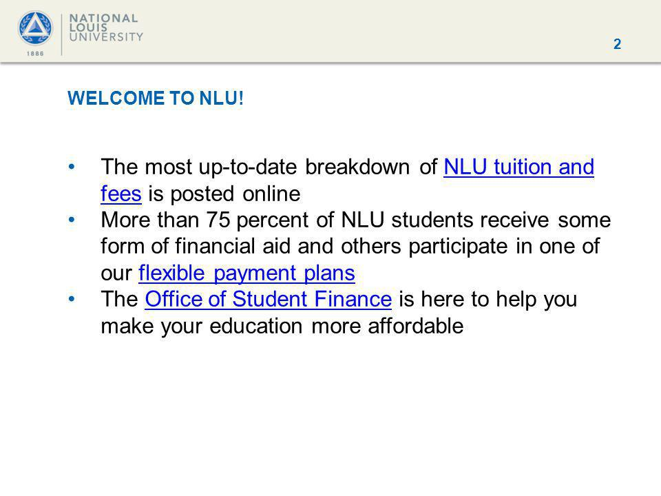 2 WELCOME TO NLU.
