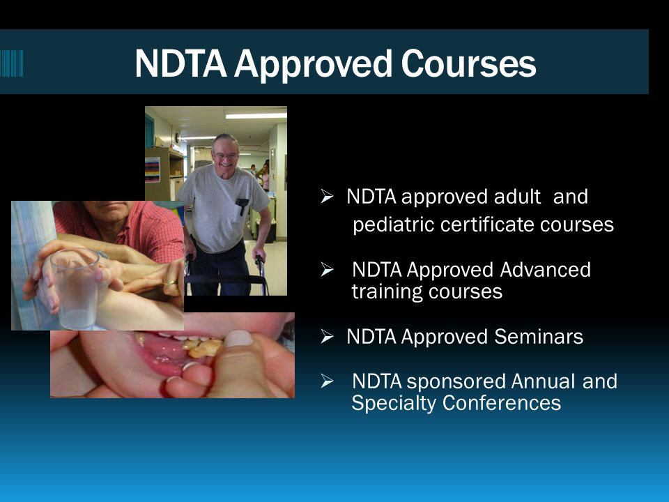 NDTA Courses Emphasize Interaction Towards Independence The NDT Approach involves individuals, caregivers and families, and the interdisciplinary team