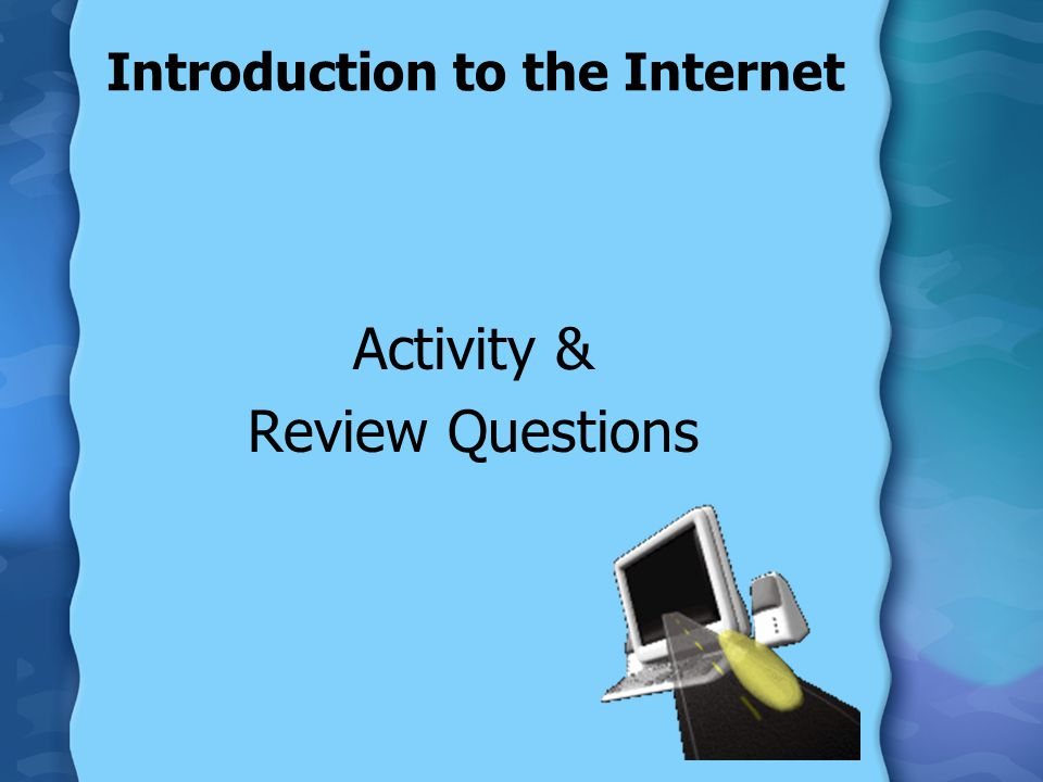 Introduction to the Internet Activity & Review Questions