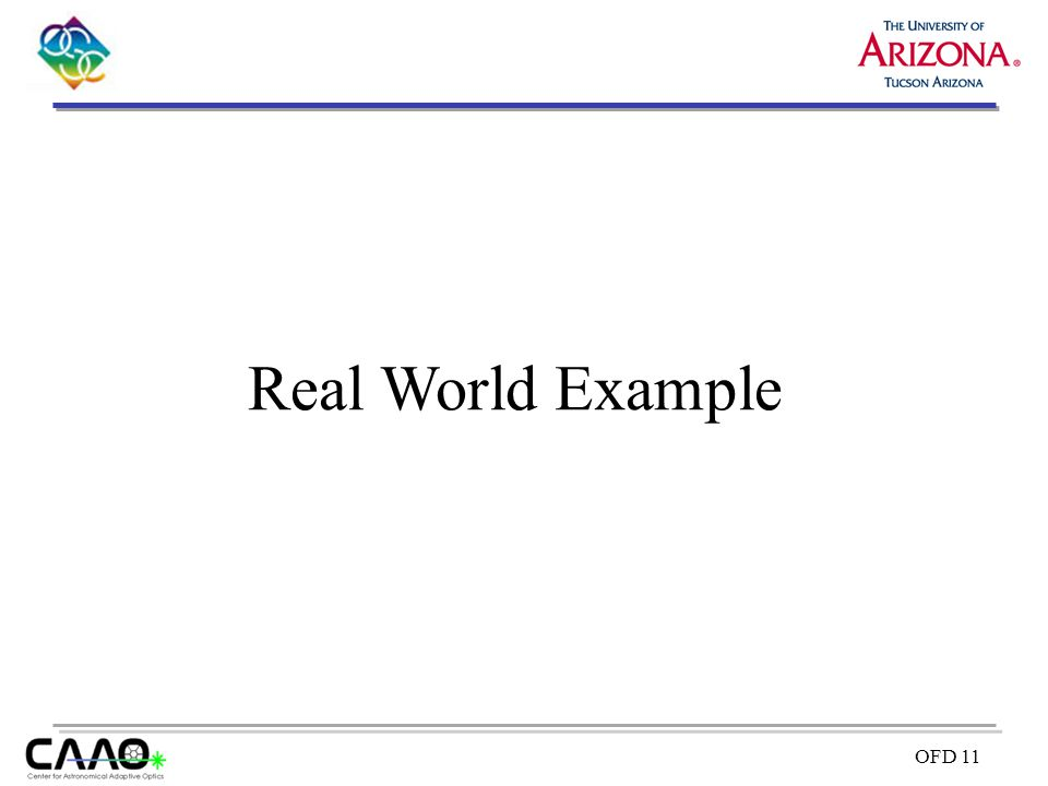 OFD 11 Real World Example