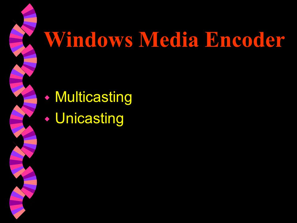 To configure and start Windows Media Encoder using a template 1.In the Welcome window, select Template with Input/Output Options, and click OK.