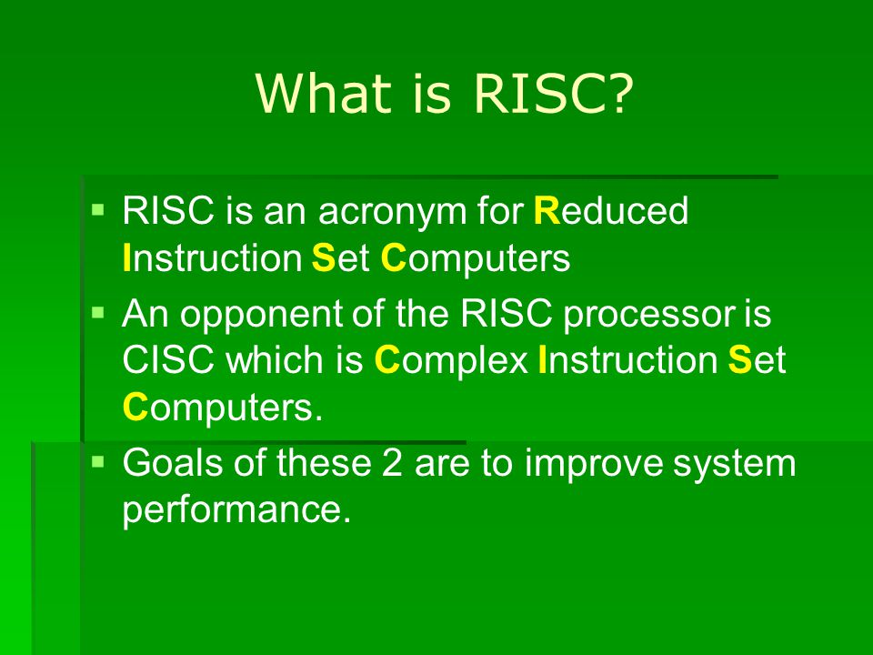 What is RISC.
