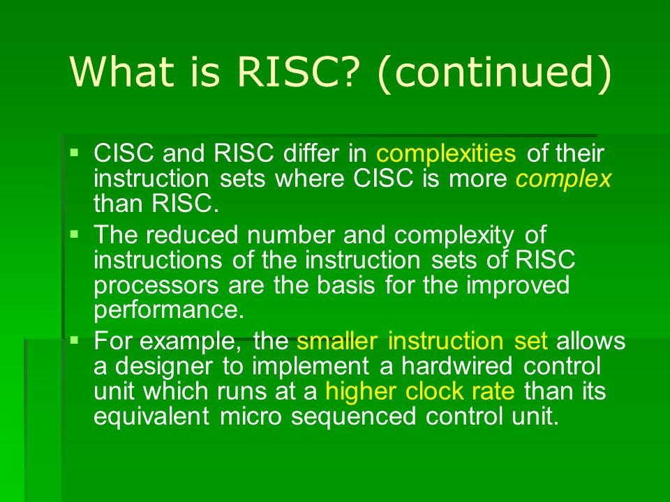 Register Windowing and Renaming The RISC processor may not be able to access all the registers it has at any given time provided that it has many of it.