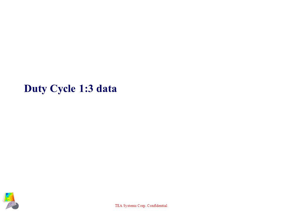 TEA Systems Corp. Confidential Duty Cycle 1:3 data