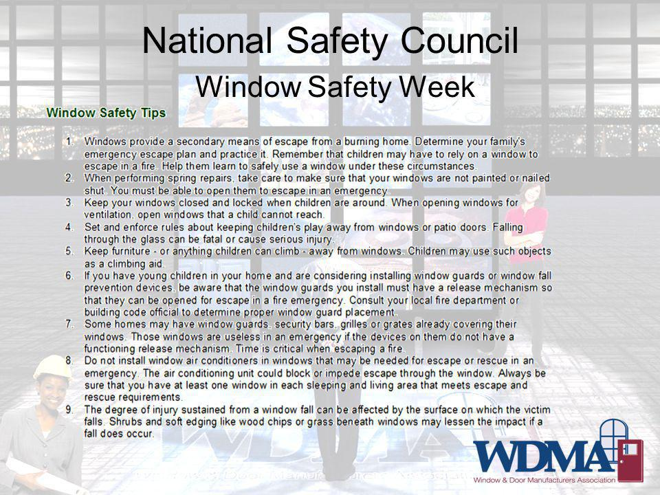National Safety Council Window Safety Week
