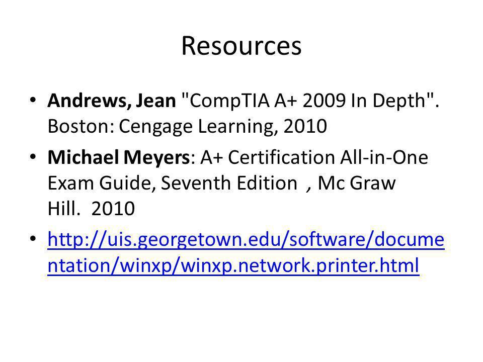 Resources Andrews, Jean