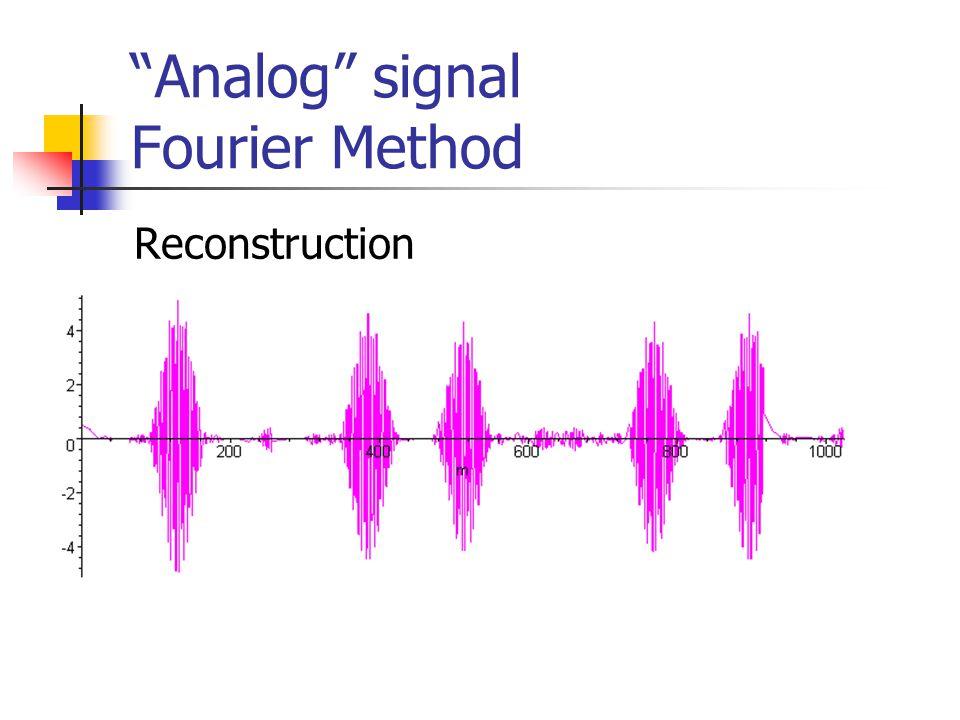 Analog signal Fourier Method Reconstruction