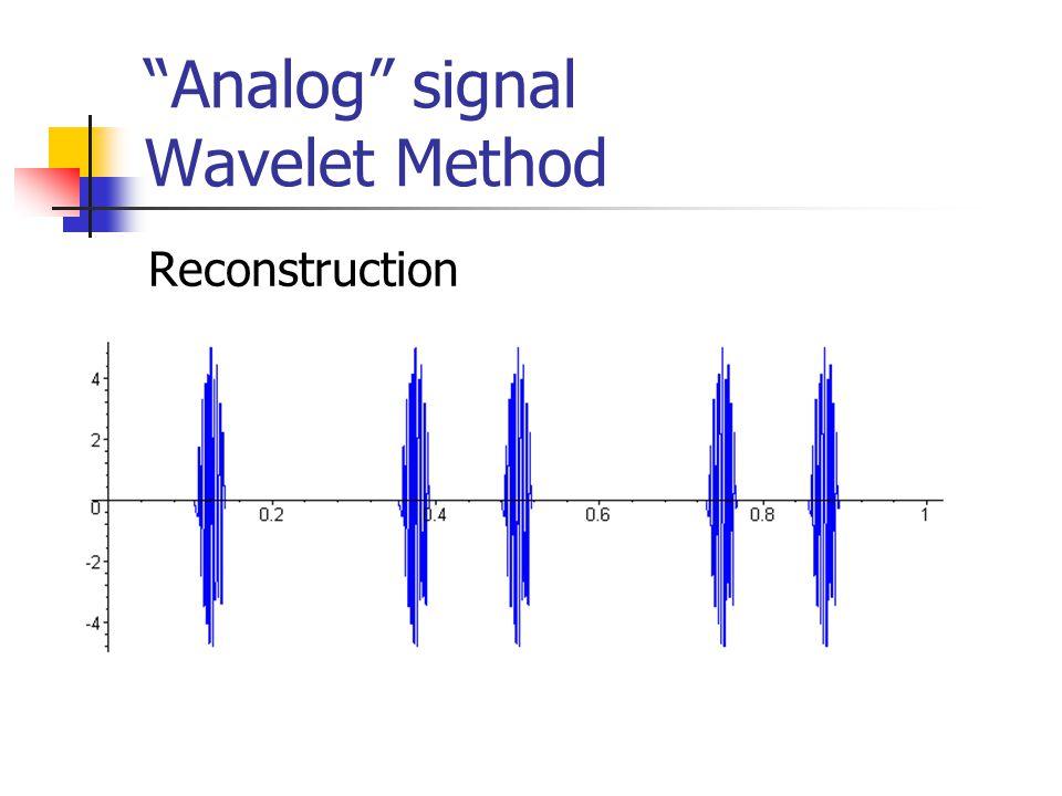 Analog signal Wavelet Method Reconstruction